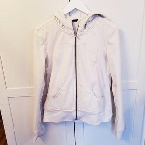 Lululemon 6 off white zipper hoodie jacket hood